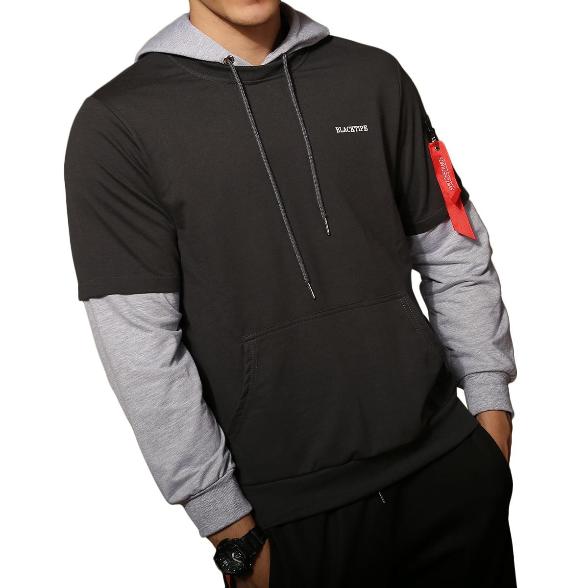 Oversized Mens Sweater Skull Printed Slim Fit Black Hoodie Fast Shipping  3619
